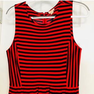 J. Crew Dresses - J.Crew, L, red/navy striped, Scoop Neck, dress